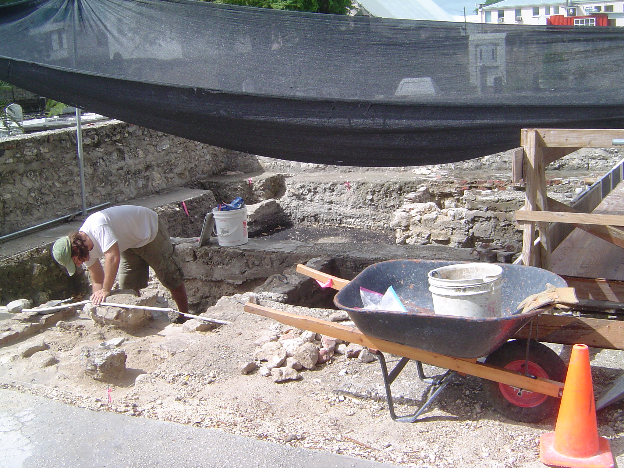 the excavation of the mikveh